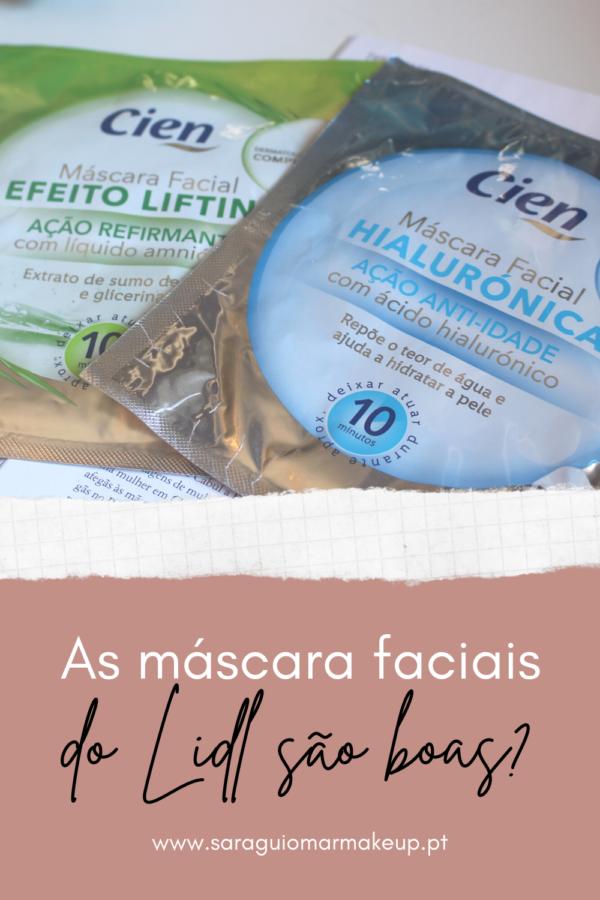As máscara faciais da Cien (LIDL) são boas?